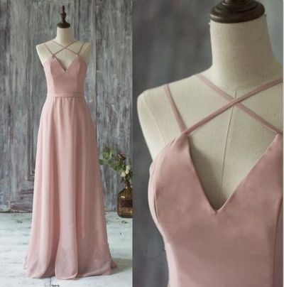 Pink Prom Dress,Long Prom Dresses,Sexy Backless Prom Dresses,Chiffon Evening Dress Casual Women Dress Party Gown ,Sexy Prom Party Gowns, Long Prom Dresses , Custom Made ,New Fashion