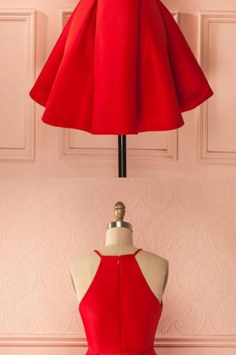 Short Straps, Red Prom Dresses,Cheap ,Homecoming Dress, for Girls ,Mini Dresses ,Party Dresses