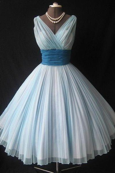 Cheap ,Chiffon, Sleeveless, Deep V-neck, Bridesmaid Dresses ,short Dress , Evening Gowns,Prom Dresses