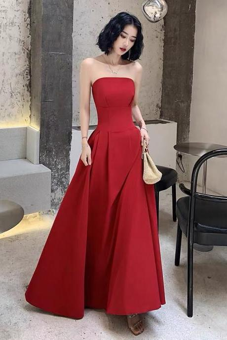 Red prom dress off shoulder party dress strapless straps evening dress sexy cocktail dress