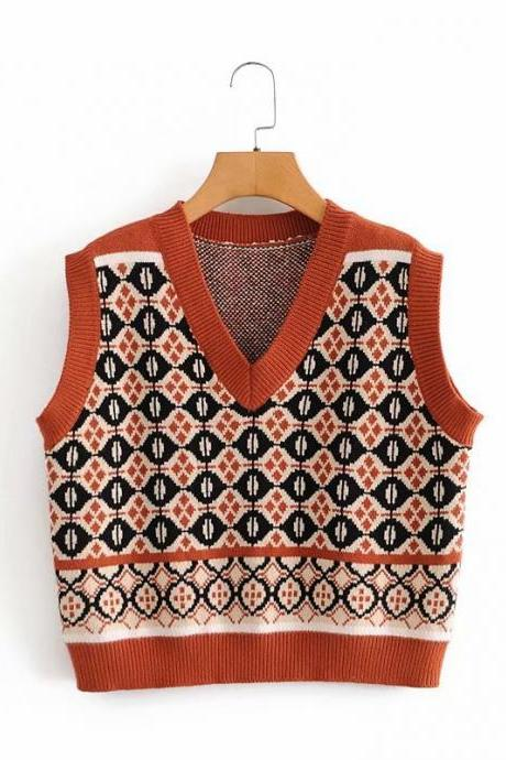 vintage vest loose-fitting vest for women