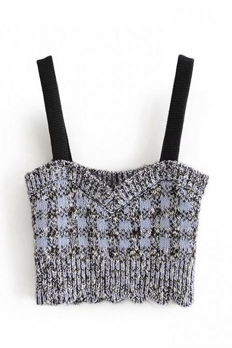 Autumn women's knitting halter vest