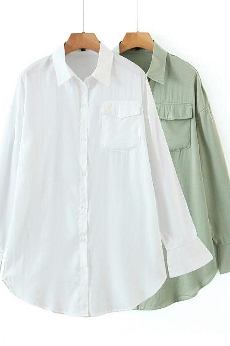Loose-fitting large medium length shirt