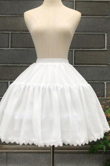 Cosplay, Spring and Summer Cool Fish Bone Skirts, Lolita Adjustable Petticoat, Soft Skirt Halftop Skirts