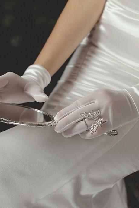 New, bridal dress gloves, stretch satin simple gloves
