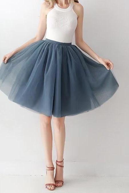 Blowout Skirt, Tutu Skirt, hot style, 7 Layer Half MESH Skirt Tulle, Skirt Adult Half Skirt