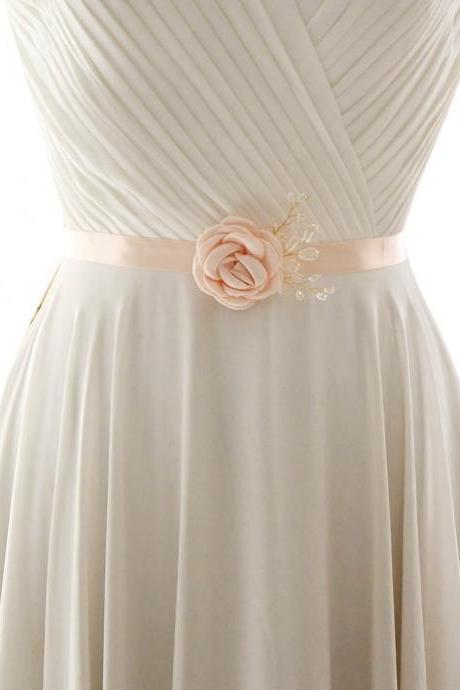 Mediterranean style bridal belt, imitation cloth flowers, wedding dress dress accessories, S340