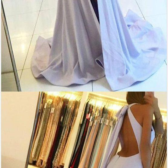 Elegant Mermaid Prom Dress,Cheap Prom Dress,Jewel Backless Sleeveless Prom Dress,Sexy Evening Dress,Split Front Long Prom Dress With Keyhole