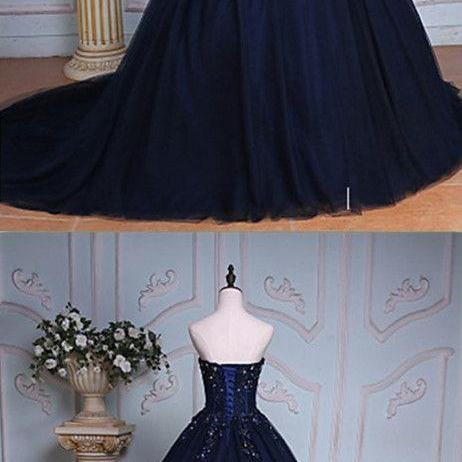 Dark Navy prom dress ,royal blue,sexy,Sweetheart Long Prom Dresses,Charming Prom Dresses,Evening Dress Prom Gowns