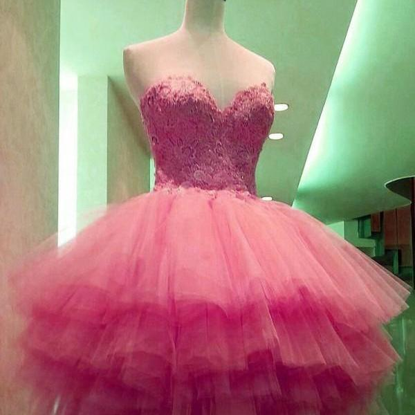 Ball Gown Homecoming Dress..